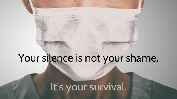 Your silence is not your shame.